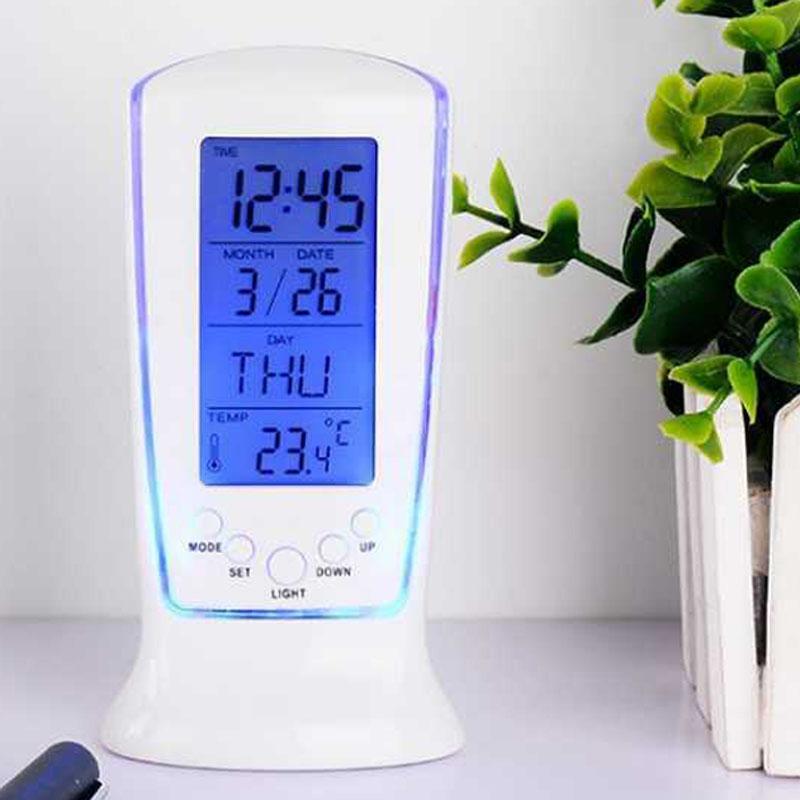 510 pantalla Lcd calendario termómetro Led Digital reloj de alarma