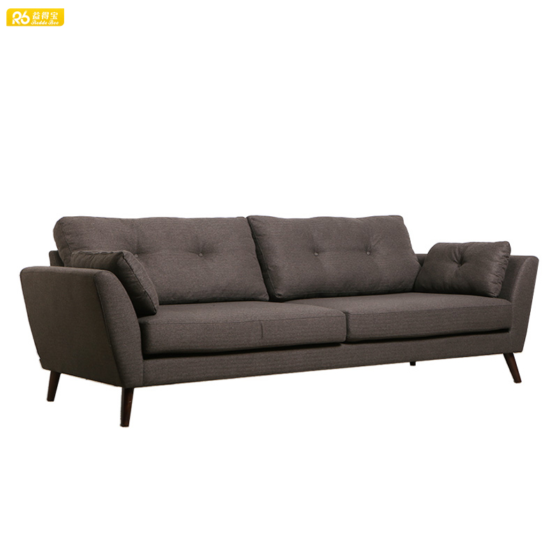 Modern minimalist style factory wholesale sectional fabric KD sofa R262