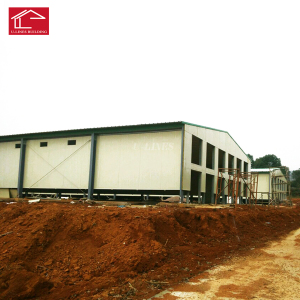 Low cost prefabricated light steel structure chicken house poultry housing for 10000 chickens