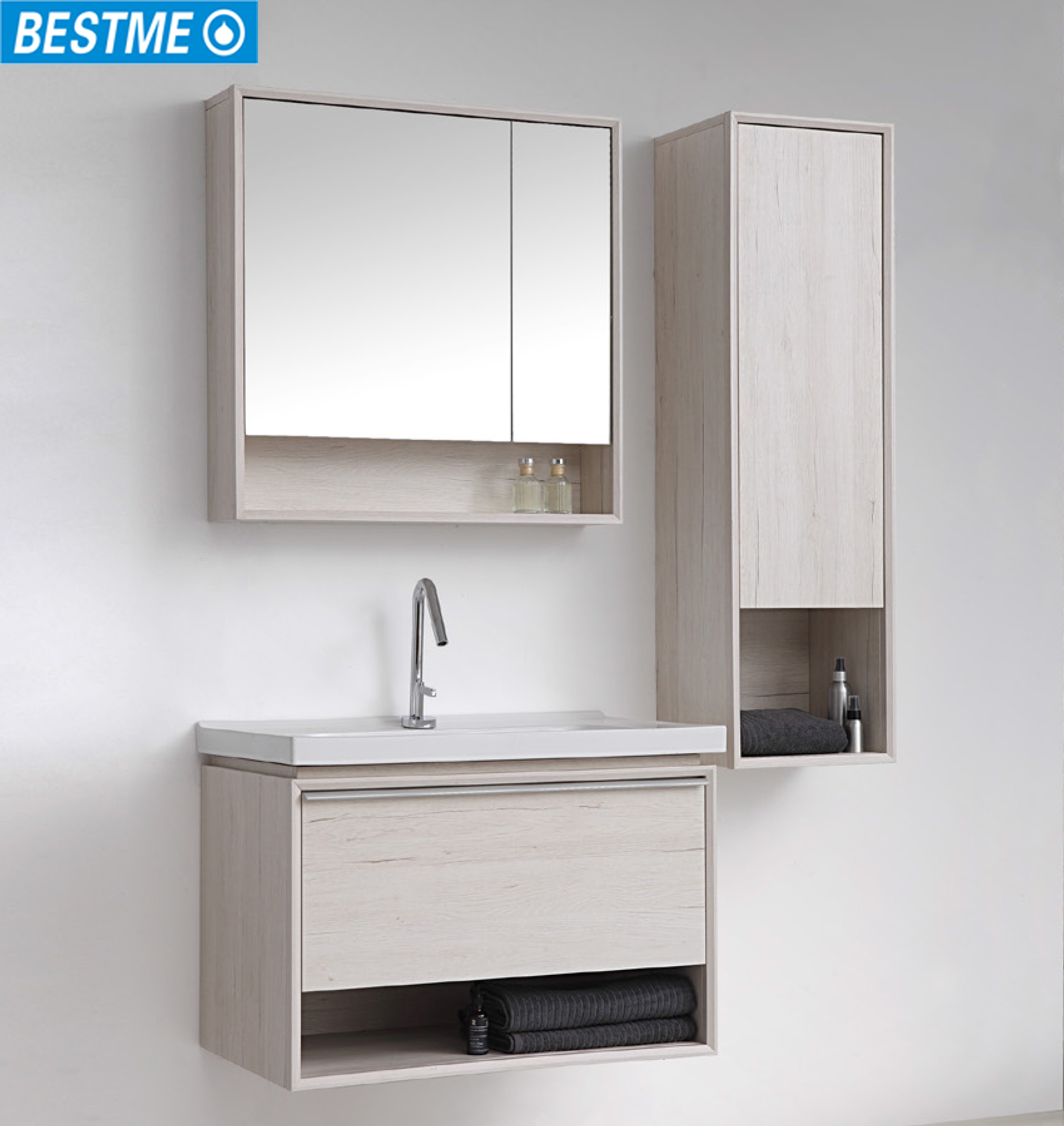 Bathroom Wall Mounted Modern Vanity Branco Para Casa