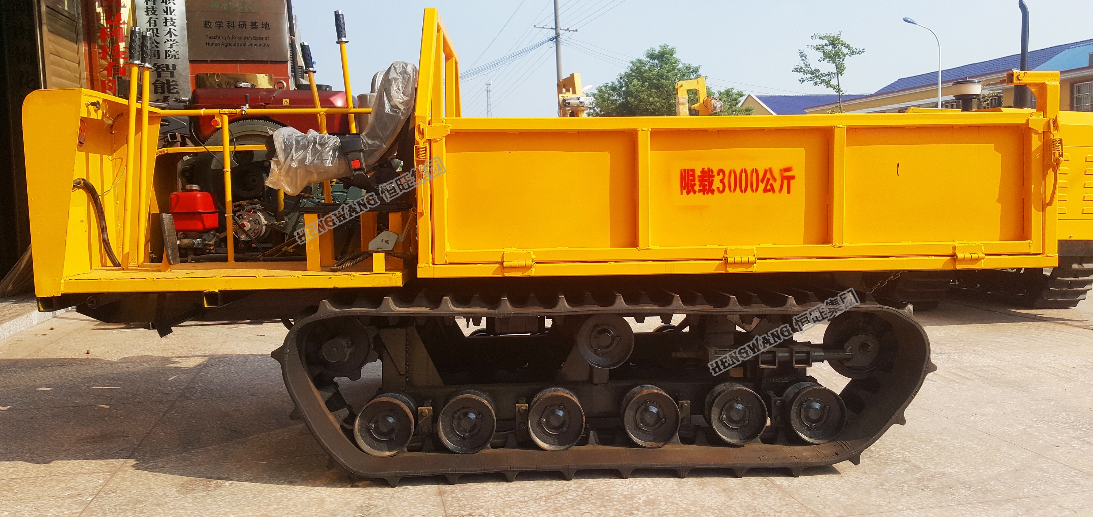 3Ton Diesel Engine Rubber Track Carrier For Sale