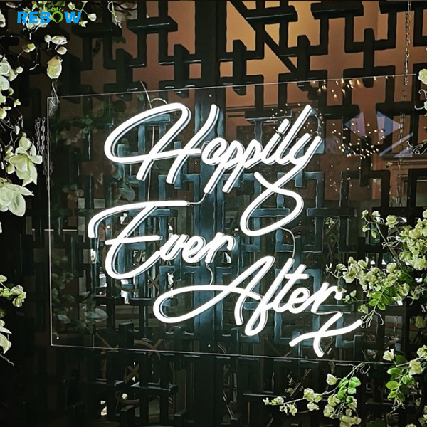 Rebow Promotion In Stock Price Happily Ever After Wedding Party Flexible Custom led Neon Sign