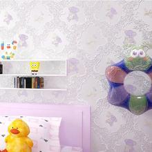 Серебряная Роскошная настенная бумага, Современная Нетканая бумага для мальчиков и девочек, милая 3D настенная бумага с медведем, настенная ...(Китай)