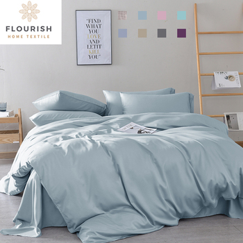 Flourish Flourish Modern Quality Pink 4pcs Quilting Velvet Bed Sets Wholesale Duvet Cover Organic Bamboo Bedding Set