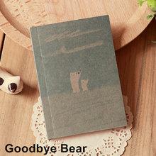 Kawaii бумажная Обложка для рисования мини блокнот Медвежонок 40 страниц пустая книга-блокнот портативная записная книга школьные офисные при...(Китай)