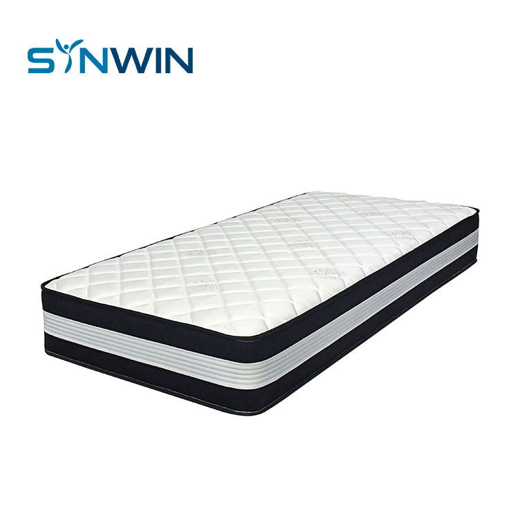 Home Furniture Pocket Spring Foam Fabric Bed  with Latex Mattress