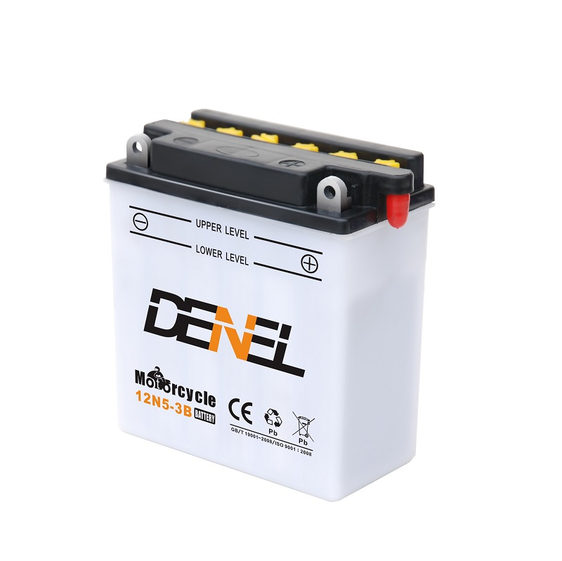 China motorcycle battery  12v 5a dry charged battery with water baterias