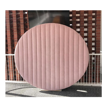 Newest luxury custom pink round velvet circular cover parties backdrop wall for wedding stage decoration*