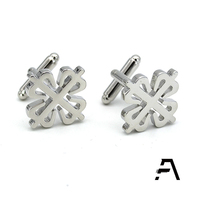 Custom Silver Calatrava Cross Cufflinks