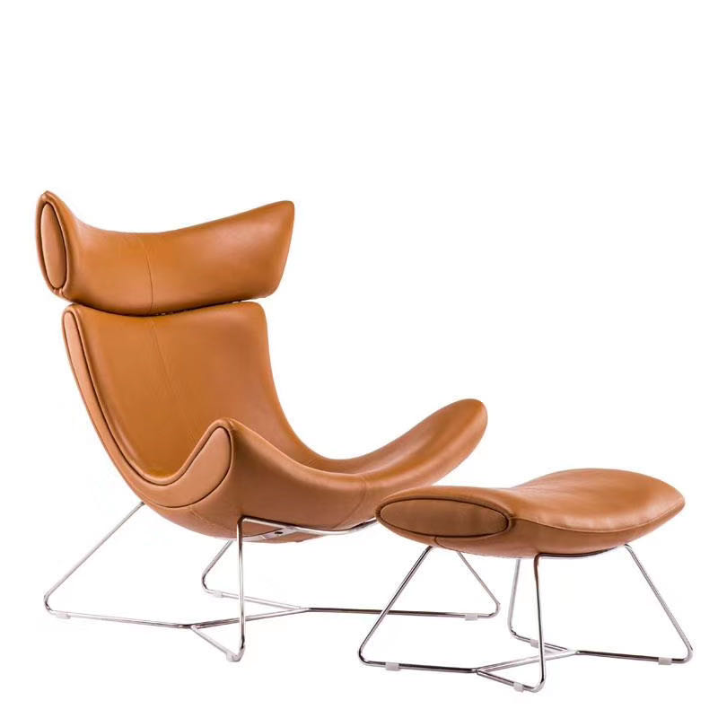 modern designer home furniture Nordic fiberglass leather dining luxury Imola lounge living room leisure accent sofa chair