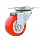 Stem Casters Newest Selling Red 1/1.25/1.5/2/2.5/3/4 Inch Castor Wheel Heavy Duty PVC Caster Swivel Casters