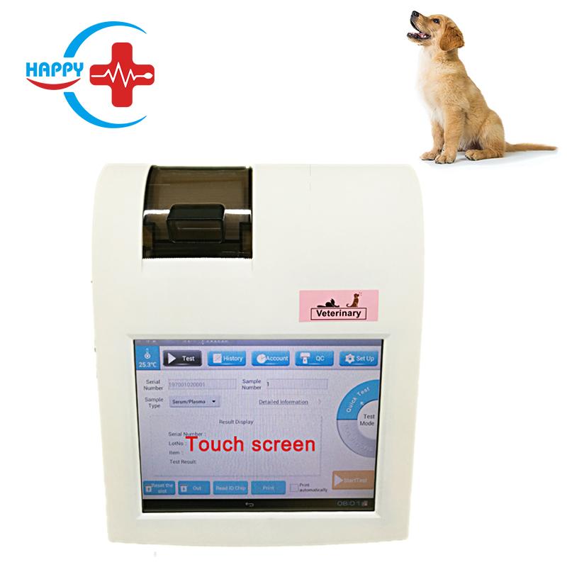 HC-R059A Veterinario Touch screen Analizzatore di POCT/canine progesterone macchina di prova CRP/Progesterone/T4/TSH/fSAA /D-Dimero/HbA1c