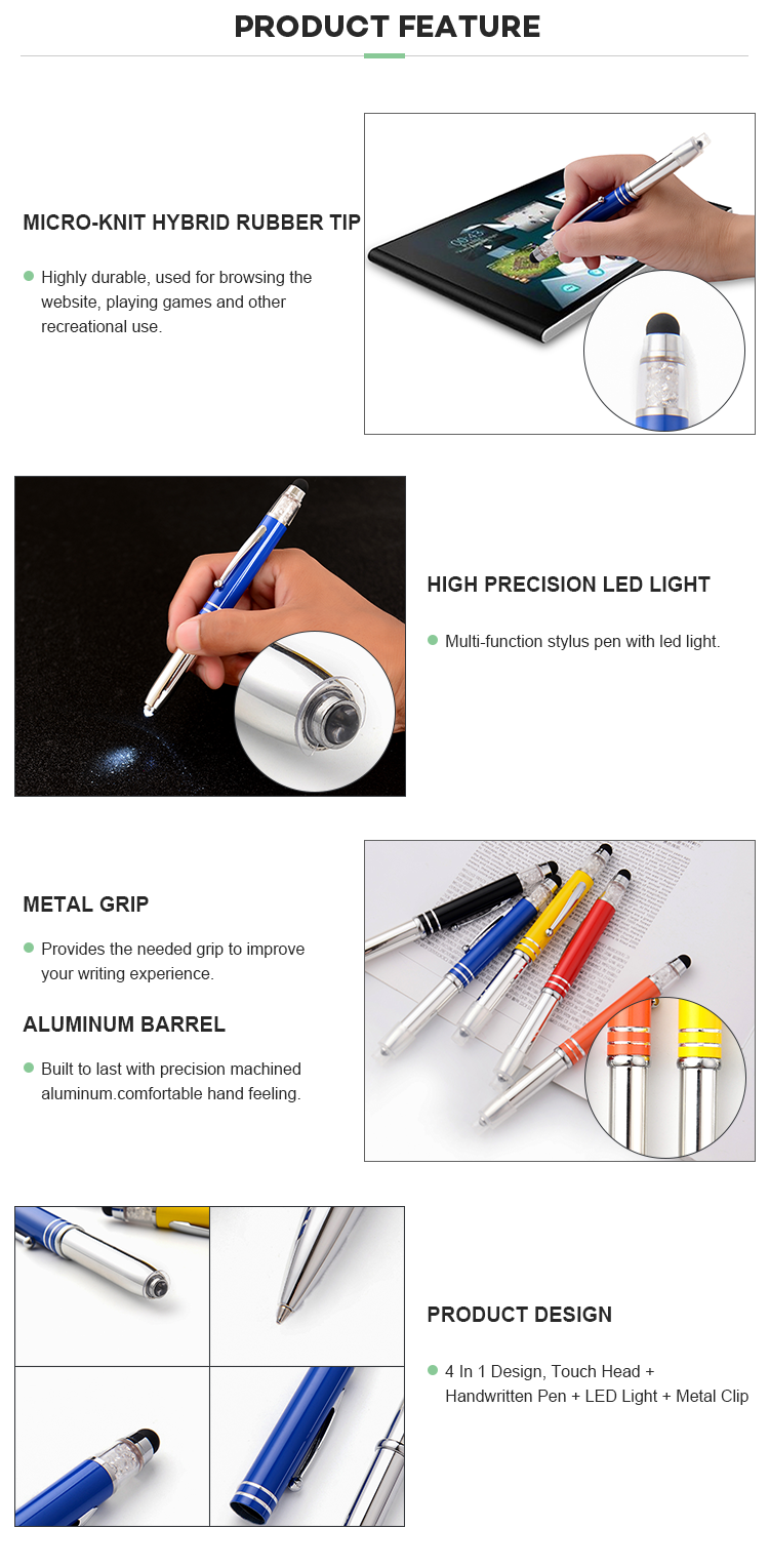 Ball Point Gift Pen Stylus Custom Luxury Pens With Stylus