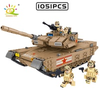 WWII Series Imaginative Army Tanks Building Block Set Military Main BattleTank Vehicle