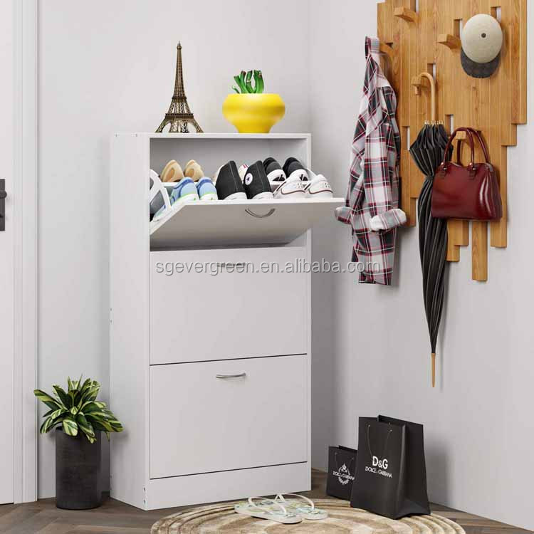2019 hot saling modern simple design mdf shoe rack cabinet