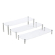 Cake,Bag Display 3 Tiers Square Shelf Unit Transparent Acrylic Cupcake stand