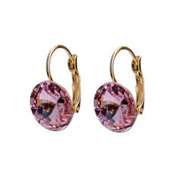 Hook Alloy Earrings Big Swarovski Crystal 14K Gold Plated Earring jewelry