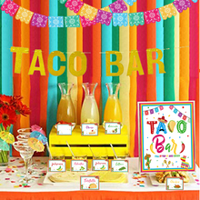 Taco Bar Dekoration Kit Fiesta Mexikanischen Cinco De Mayo Themed <span class=keywords><strong>Party</strong></span> <span class=keywords><strong>Bachelorette</strong></span> Braut Dusche Baby Shower <span class=keywords><strong>Party</strong></span> Supplies