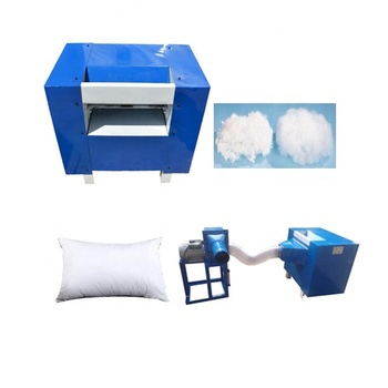 Automatic pp cotton fiber opening carding machine Cotton bale opener and cotton pillow cushion filler filling machines