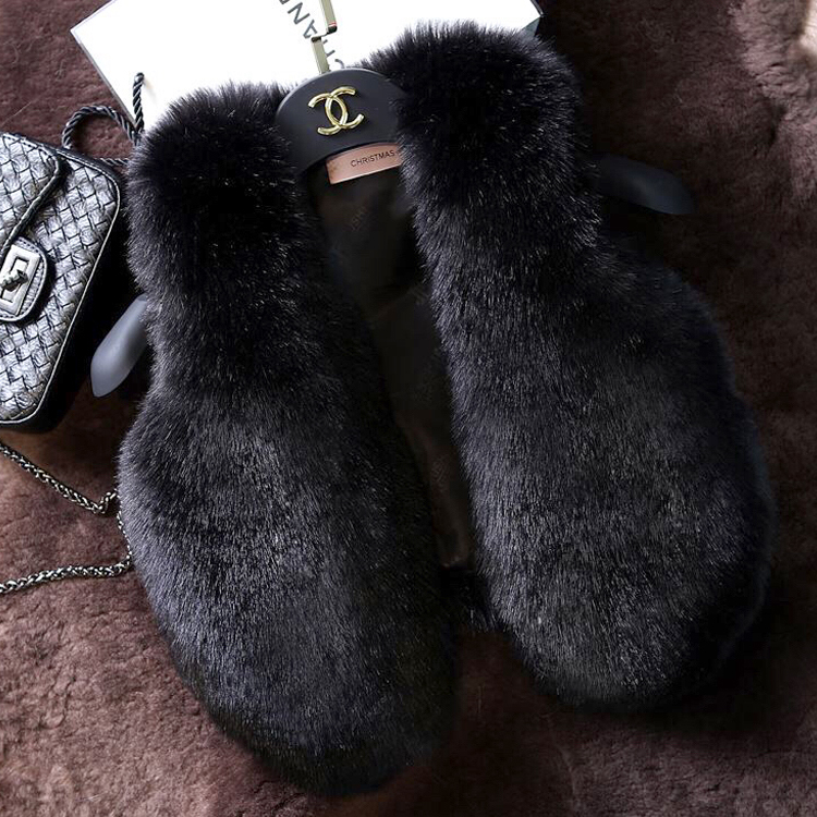 2019 Autumn And Winter Fur Waistcoat Girls Multicolor / black winter fur vest from china
