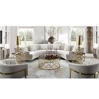 new designs 7 seater fabric white living room curved sofas round couch sets with sofa chair