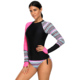 New Arrival Long Sleeve Lady Tankini Two Piece Swimsuit Swimwear For Surfing