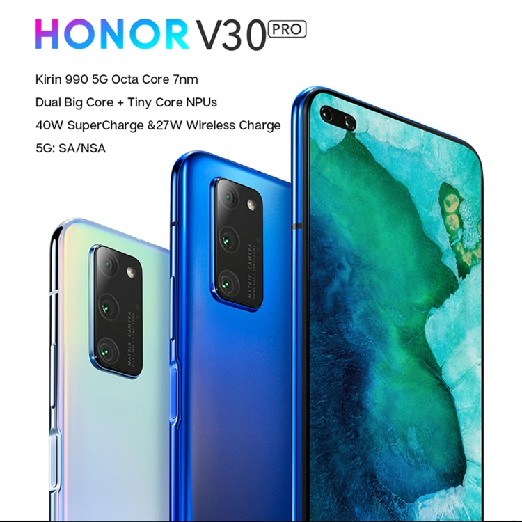 PRESALES Original Huawei Honor V30 Pro OXF-AN10 5G, 8GB+128GB 6.57 inch Magic UI 3.0.1 Smartphone Mobile Phone