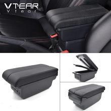 Vtear для VW Golf 7 автомобильный подлокотник кожаная коробка для хранения Авто-Стайлинг USB подлокотник центральная консоль аксессуары для интер...(Китай)