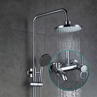 Copper Rainfall Water Therapy Hand Held Pet And Kids Waterfall Shower Head European Shower Faucet With Hose