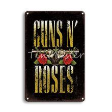 Металлическая вывеска Guns N Roses Оловянная вывеска винтажная Blink-182 NIRVANA металлическая табличка вывеска для мужчин в пещере декоративные тарел...(Китай)