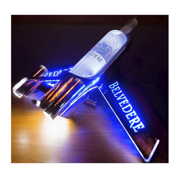 wholesale 'Belvedair' LED Airplane Glorifier Pourer presenter for 1.5L and 3L Belvedere Vodka, wine, beer, tequila, whiskey