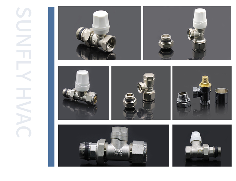 Brass thermostat wireless radiator fittings valves for heating radiators