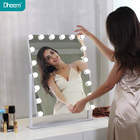 Mirror Make Copper Free Silver Mirror Dheem Hollywood Mirror Make Up Vanity Mirror Women's Cosmetic Mirror With 12 PCS Dimmable Bulbs