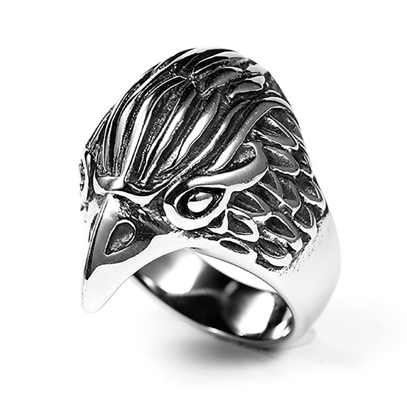 product-2020 Christmas Eagle Head Engagement Rings For Men-BEYALY-img