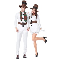 Christmas costume men women night club white dress for party