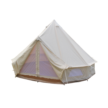 Waterproof Canvas Luxury Glamping 5m 7m Stove Outdoor Bell Tent For Sale
