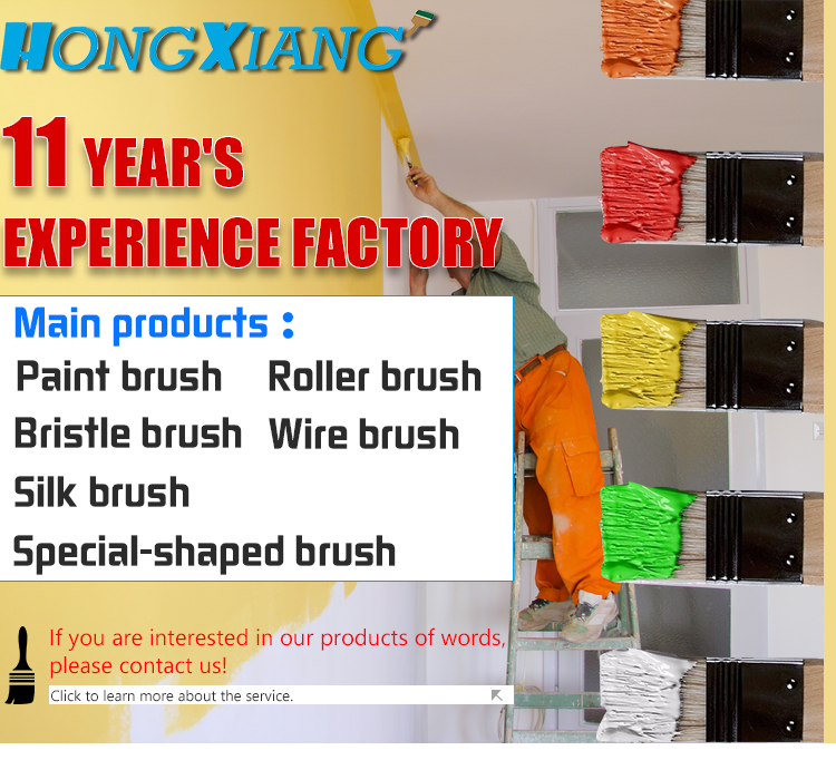 Wholesale professional hand tools wooden handle synthetic hair paint brushes