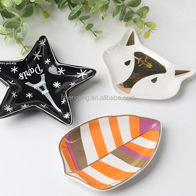 Blank Oem/Odm Custom Unicorn Porcelain Jewellery Trinket Dish For Wedding Return Gift