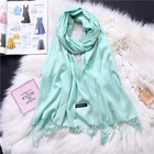 Hot sell wholesale women winter fashion scarf pashmina cashmere shawls manufacturer