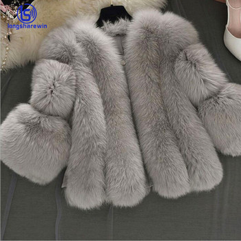 2020 ladies winter warm thicken leather patchwork jacket pockets faux fur coat for women