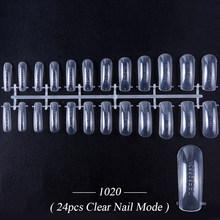 Пластиковые накладные ногти, накладные ногти, для практики, акрил, модель для наращивания ногтей, тренировочный дисплей, искусственные ногт...(Китай)