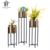 Factory direct cheap large floor metal vases stand gold flower standing vase