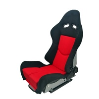 Red Black Fabric Carbon Fiber Racing Seats Bucket Car Fiberglass Seat Come With Double Slider