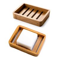 Supplier Eco-friendly bamboo wooden soap box handmade bamboo soap dish for bathroom