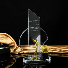 Gold <span class=keywords><strong>Blatt</strong></span> Golf Trophy <span class=keywords><strong>Loch</strong></span> in einem Avard Gewinner Tasse Achievement Award