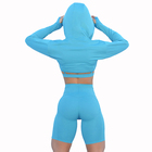 Dropshipping Sports Compression Women Fitness Clothing Active Wear Workout Mesh Yoga Pants With Pocket