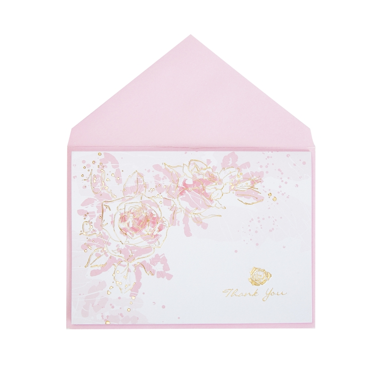 Minimalism Pink Floral Appreciation Boxed Cards, New Products Thank You Greeting Cards