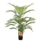 Simulation plant artificial small potted green plastic areca palm tree for cheap price