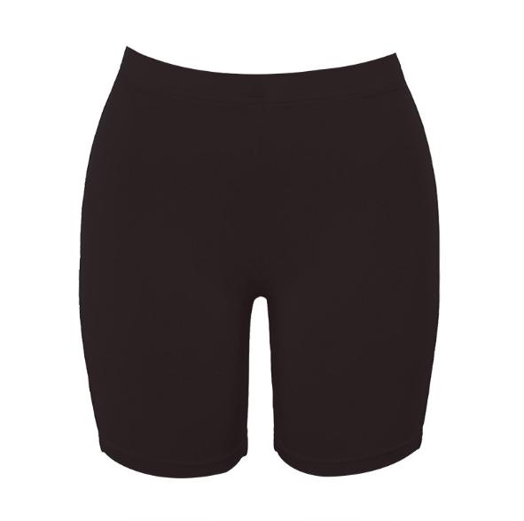 Las mujeres de pantalones cortos alta cintura elástica delgada corto Mujer color sólido fitness deportes arriba pantalón Y11458