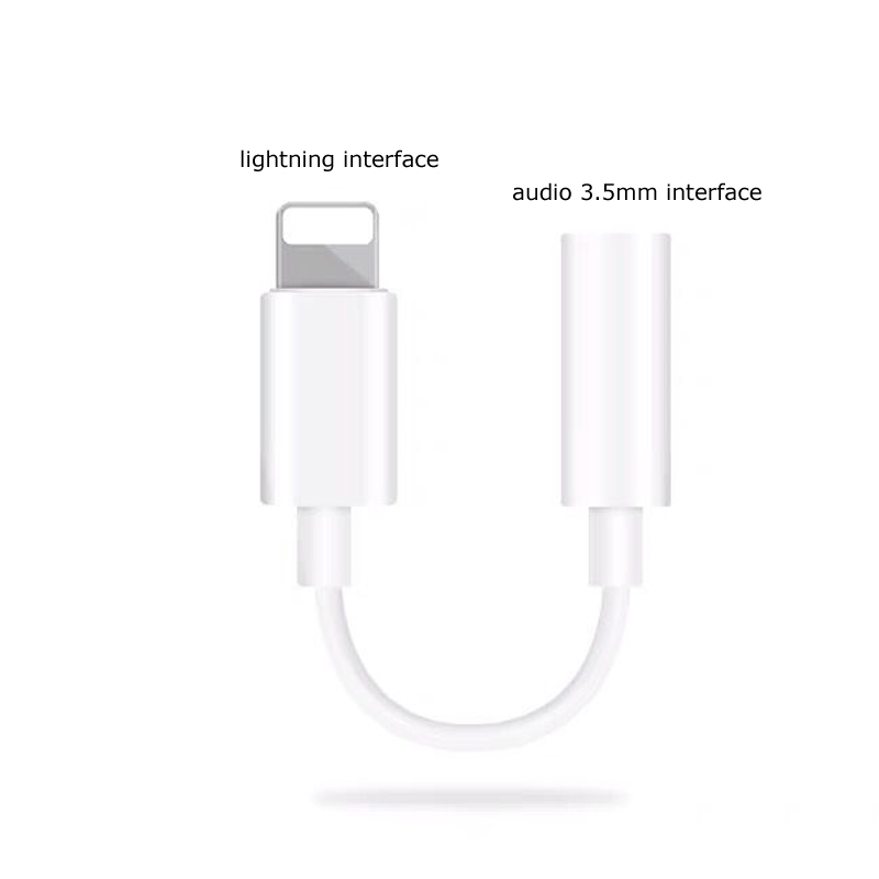Earphone jack 3.5mm adaptador splitter Lighting male 8pin converter Aux audio Cable for Iphone audio adapter